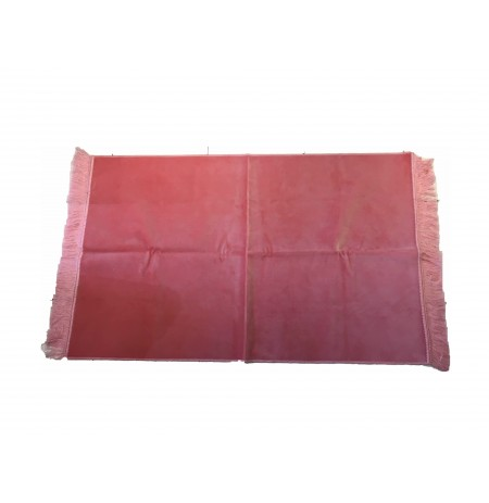 TAPIS LUXE UNICOLORE - ROSE