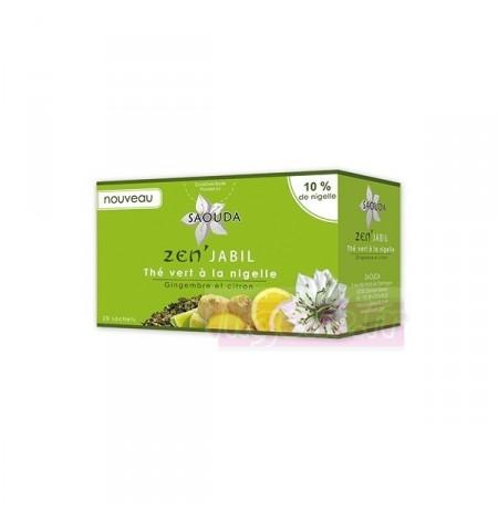 Thé vert à la nigelle,gingembre et citron