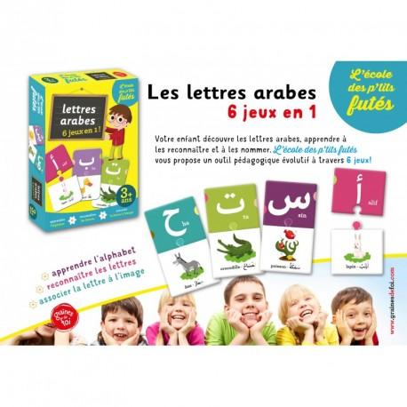 Lettres arabes  6 jeux en 1 Jeu de société  dès 3 ans