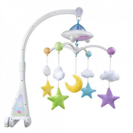 Mobile Bébé Coranique Lumineux -Lune Étoiles-Télécommandé - Mobile Moon & Stars Desi Doll