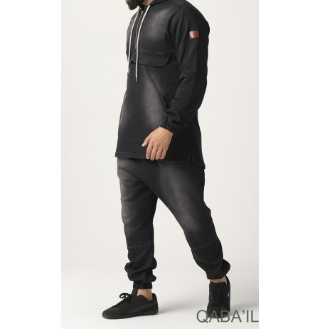 SWEAT JEAN STRETCH - KAMERON QABA'IL - NOIR