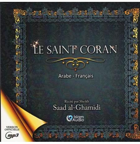 LE SAINT CORAN EN ARABE ET FRANÇAIS GHAMIDI Format CD MP3