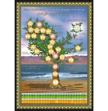 Poster : L'arbre généalogique des prophètes et des messagers